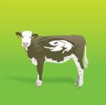 Dünya sanatından bir inek ve üzerinde imaj çalışması