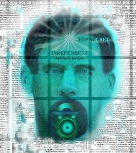 Bağımsız Gazeteci- Karışık Teknik- Dönmez'in Protest Sanatı-Medyaya Baskı serisinden...