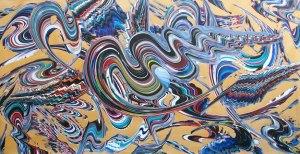Bir Dönmez imzası 100X170 cm Acrylic on canvas 2008