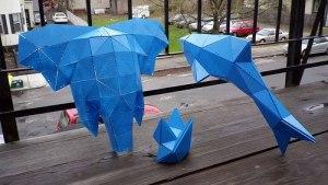 Paul Kinsky 2011 elephent, dolphin