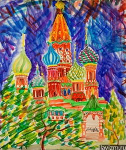 Saint Basil's Cathedral watercolor on paper 60x50 cm 2014