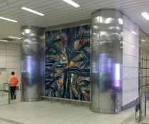 Taksim funiculer station. 4X3 metre metal üzeri akrilik (2006)