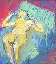 Jules Olitski, Anastasia Green and Blue, 2002